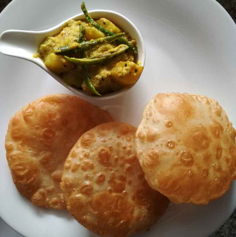 Photo of Aloo posto_luchi. by Naheed Alam at BetterButter