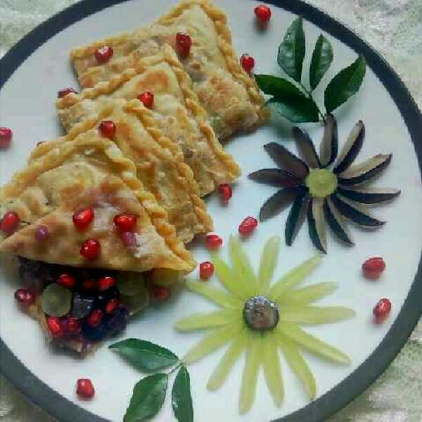 How to make Fruity juicy jeggary paratha.