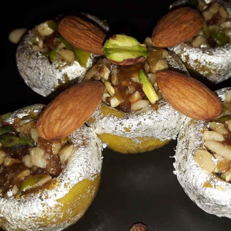 Photo of Mix dryfruit n gulkand stuffed in kaju katori.. by Naina Bhojak at BetterButter
