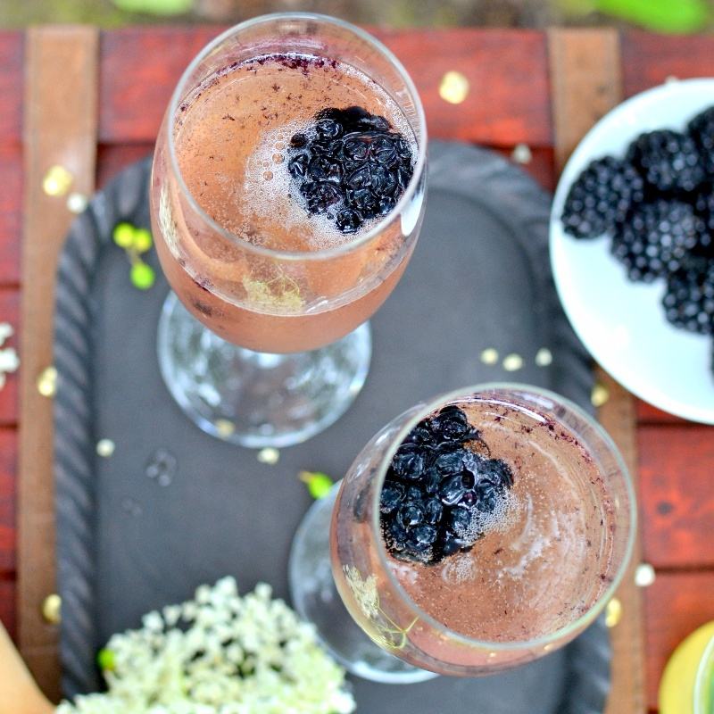 Photo of Prosecco, Blackberry and Elderflower Aperitif by Naina Puthran at BetterButter