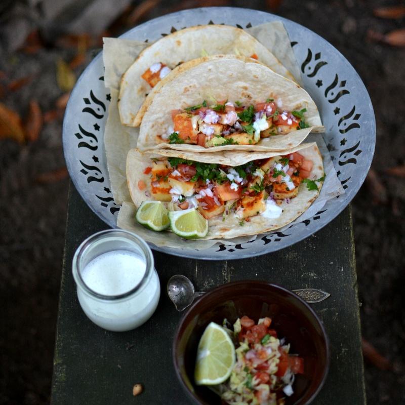 How to make Sriracha Halloumi Tacos