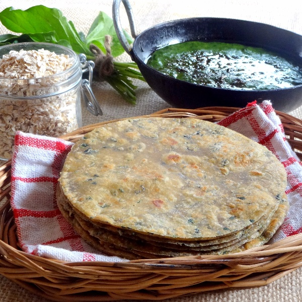 Photo of Two Grain Fenugreek Flatbread | Methi Oats Parantha by Namita Tiwari at BetterButter