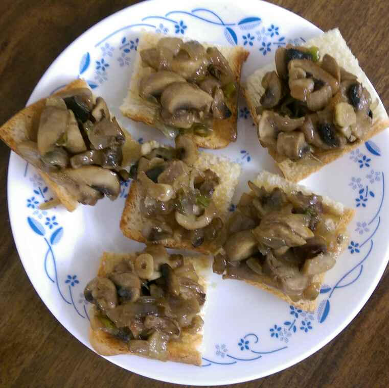Photo of Mushroom Crostini by Nandini Mitra at BetterButter