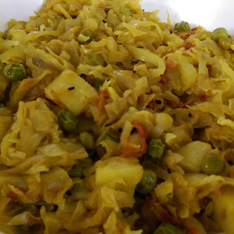 How to make Cabbage and Peas