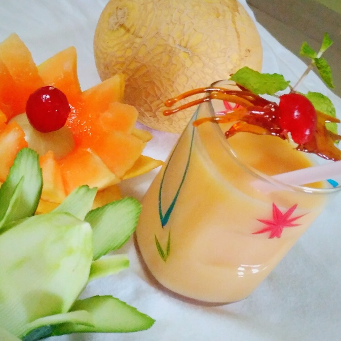How to make MuskMelon Milkshake
