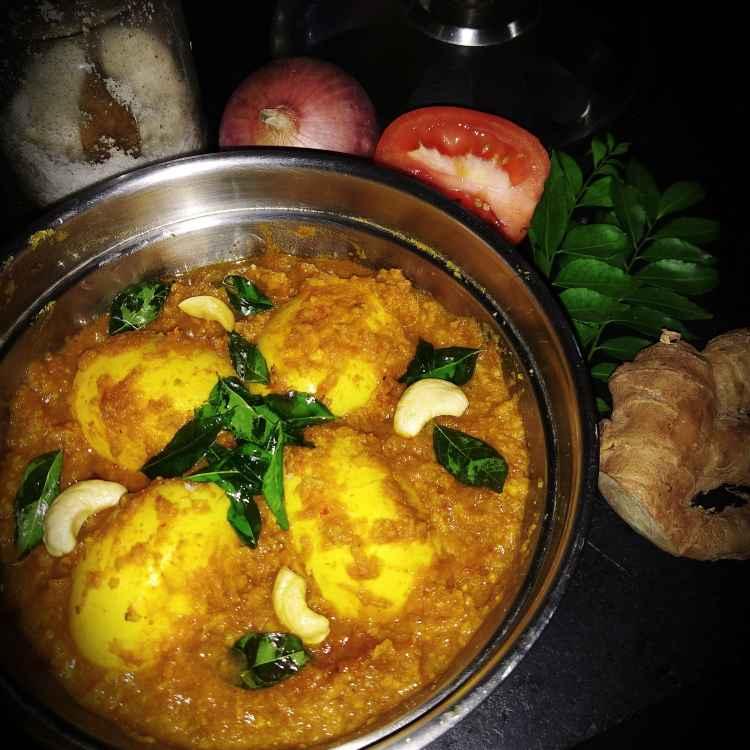 Photo of Egg in kaju coconut gravy by Nandini Syam at BetterButter