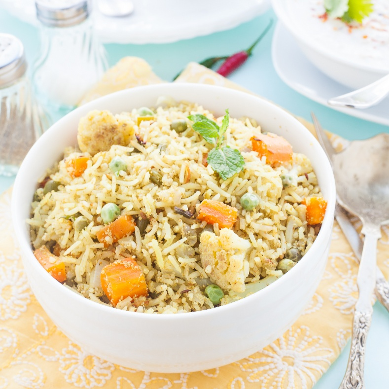 Photo of South Indian Style vegetable Pulao with Radish Raita by Nandita Shyam at BetterButter