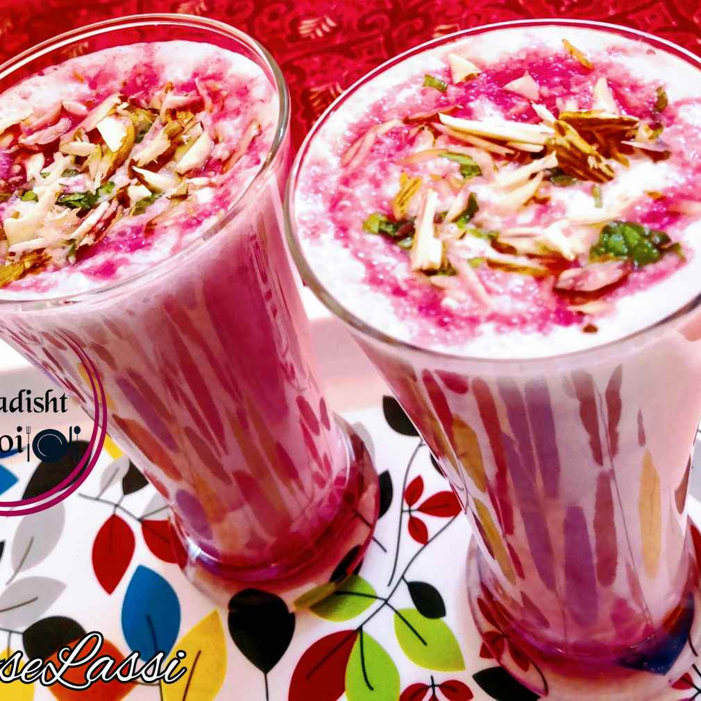 Photo of Rose lassi by Nasreen Chouhan at BetterButter