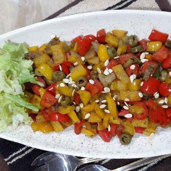 Photo of 3 pepper stir fry by Natasha Motwani at BetterButter