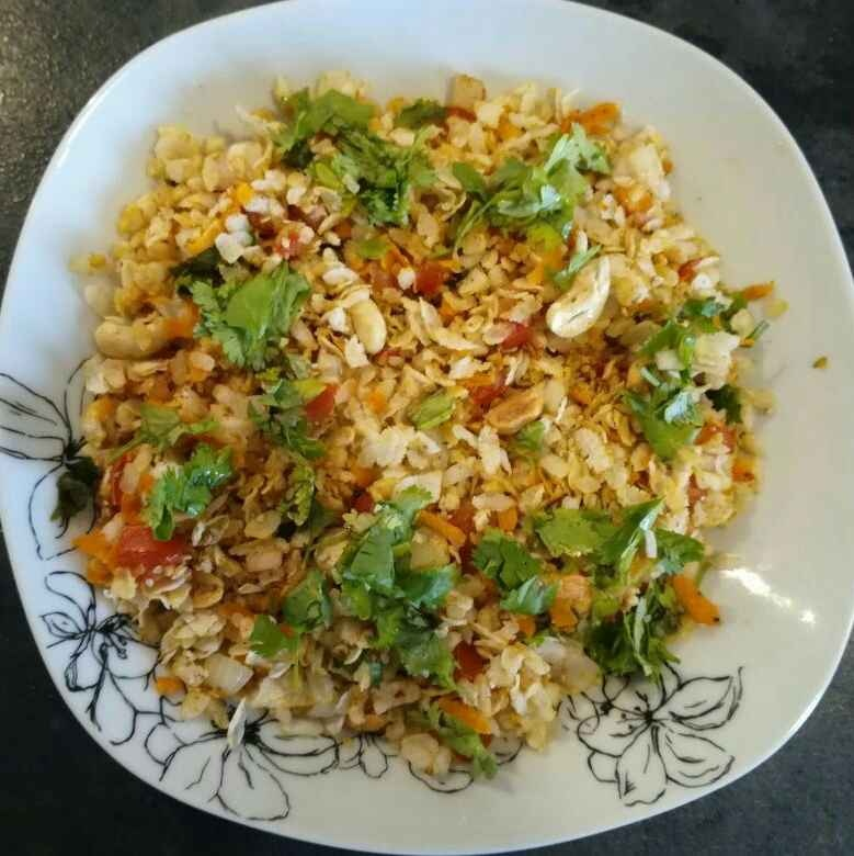 How to make Flattened Rice(Poha) Bhel