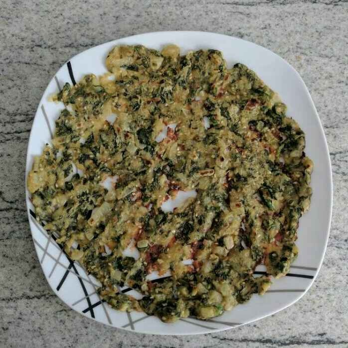 How to make Rice flour spinach roti
