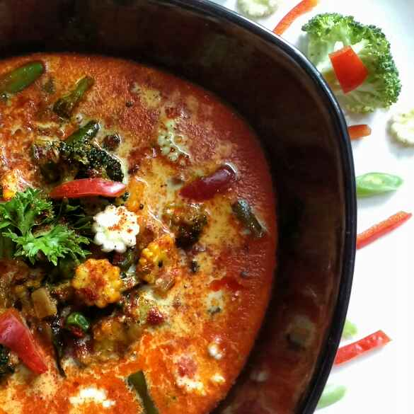 How to make Mixed Vegetable Milk Curry