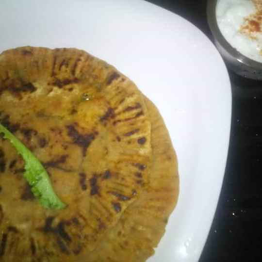 Photo of Green Raddish whole wheat Paratha by Nayana Palav at BetterButter