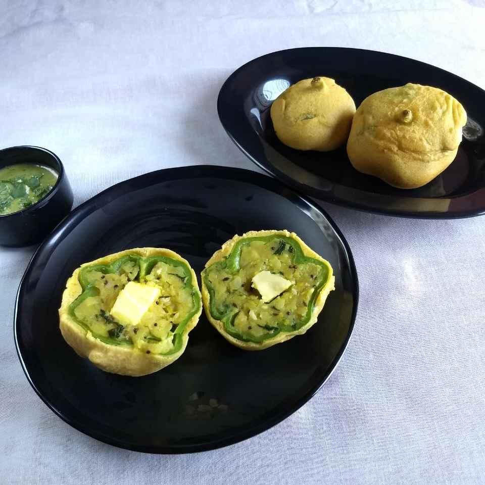 How to make Cheese potato stuffed Capsicum