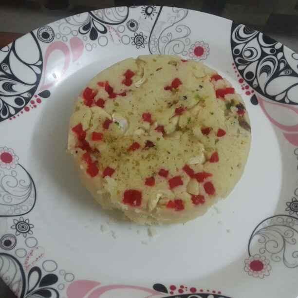 How to make Eggless Rava Cake