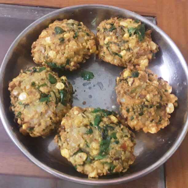 How to make Keerai masala vadai