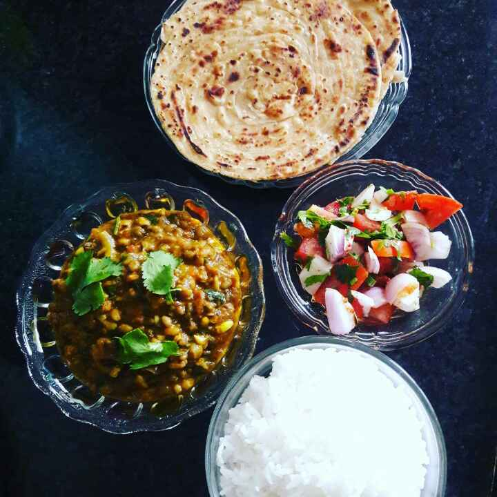 Photo of Masala Moong And Parathe by Neelam Barot at BetterButter