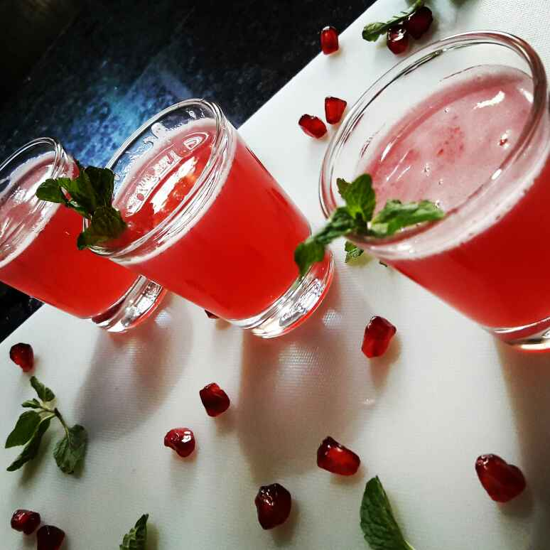 Photo of Red Beauty / Anar Pudina Cooler by Neelam Barot at BetterButter