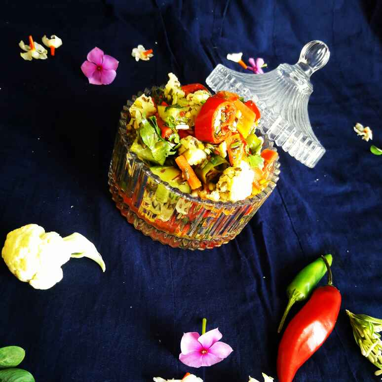 Photo of Instant Mexican Mix Veggies Pickle by Neelam Barot at BetterButter