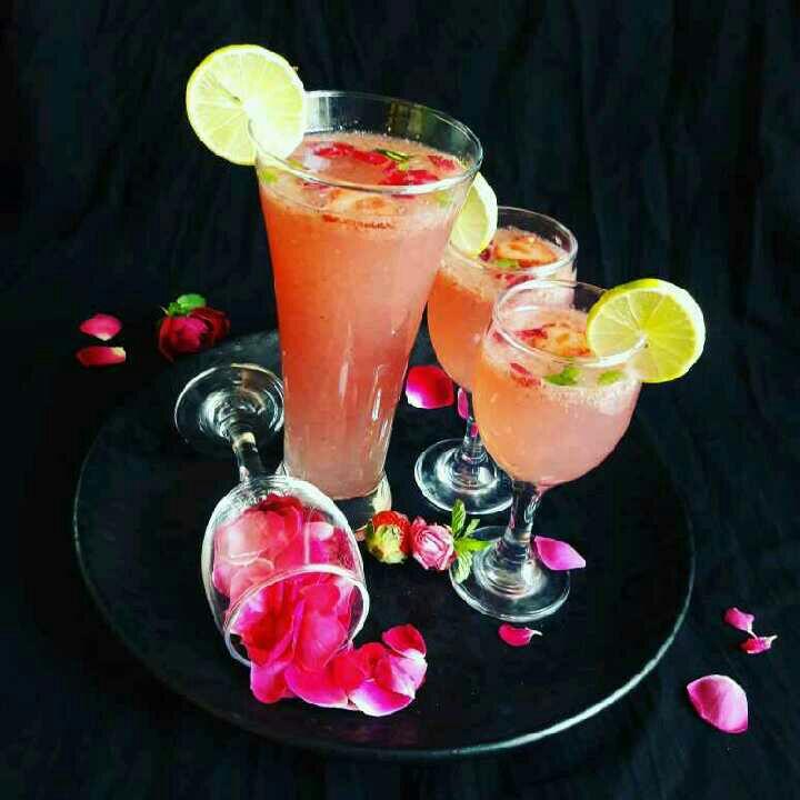 How to make Strawberry Rose Lemonade