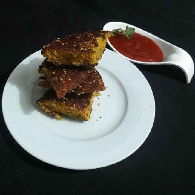 Photo of Kadai Handwa/ Handwa Pancakes by Neelam Barot at BetterButter
