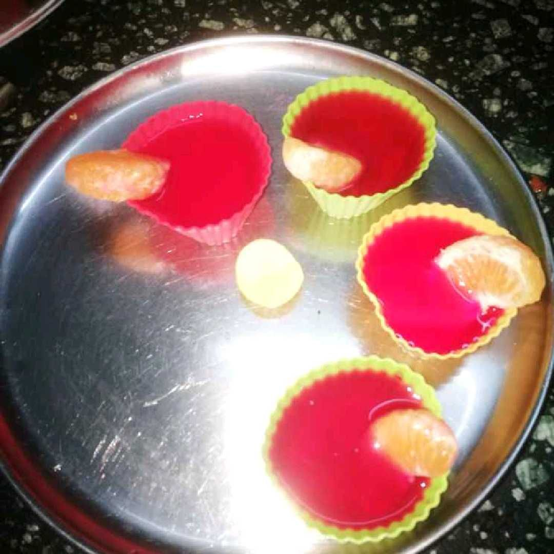How to make Red heart shaped jelly