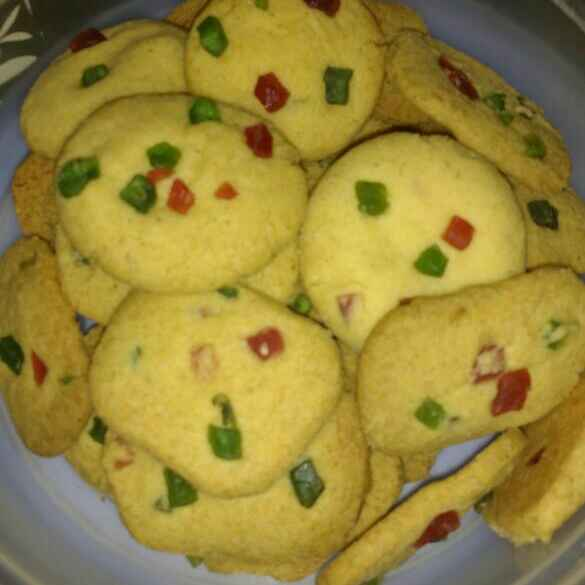 Photo of Tutti frutti custard biscuit by Neelam Chauhan at BetterButter
