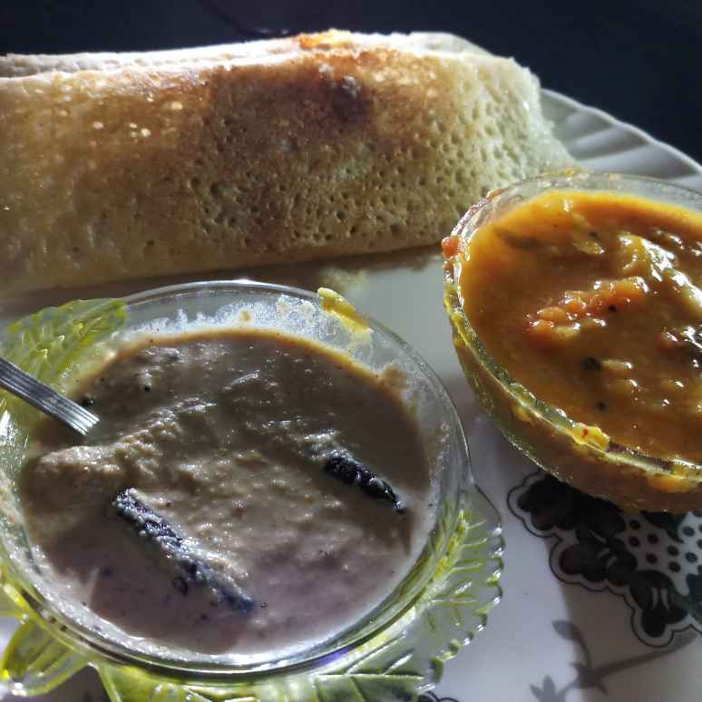 Photo of Dosa with sambar and chutney by Neelima Mishra at BetterButter