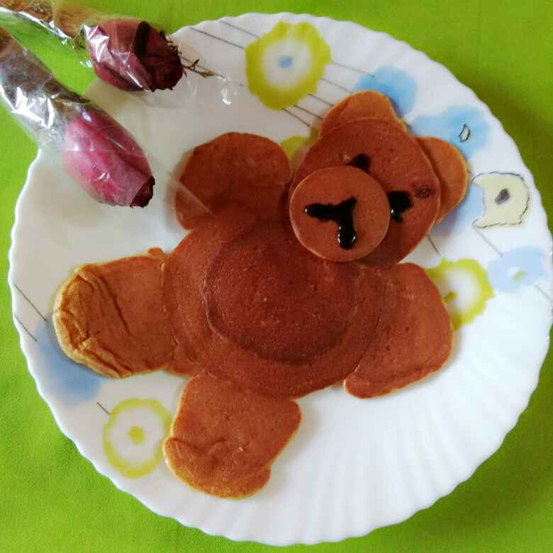 Photo of Pancake in teddy  shape by Neelima Rani at BetterButter