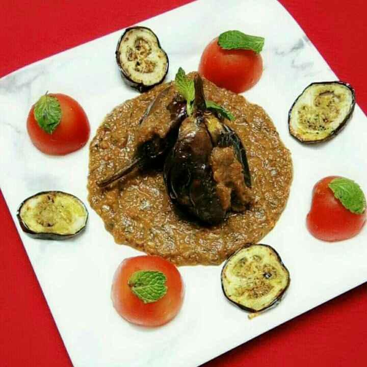Photo of Masala baingan in mint tomato gravy by Neelu Dua at BetterButter