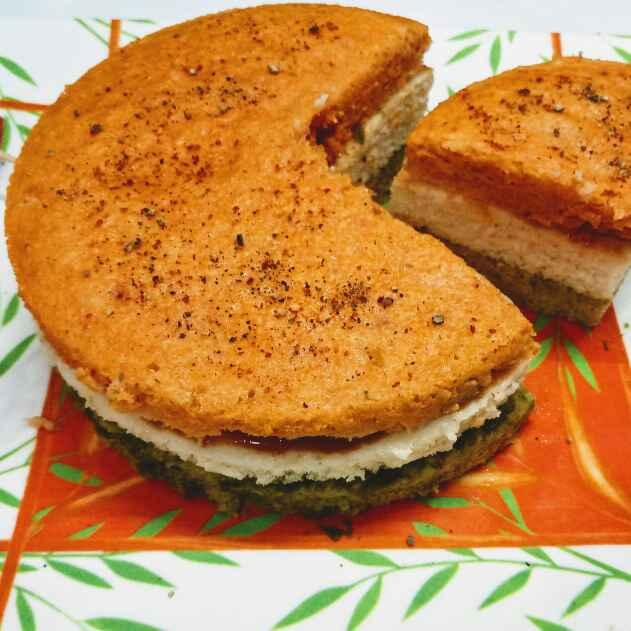 How to make Tri colour rice dhokla