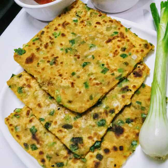 Photo of Spring onion paranthe by Neeru Goyal at BetterButter