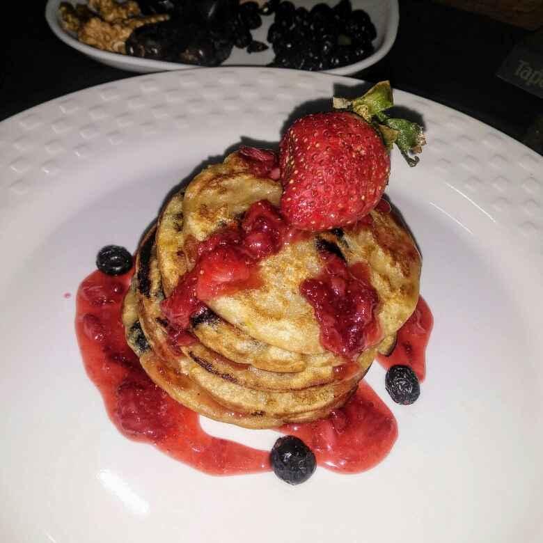 Photo of Orange berries pancakes by Neeru Goyal at BetterButter