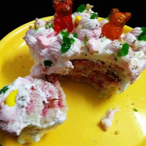 Photo of Gulkand pastry by Neeru Gupta at BetterButter