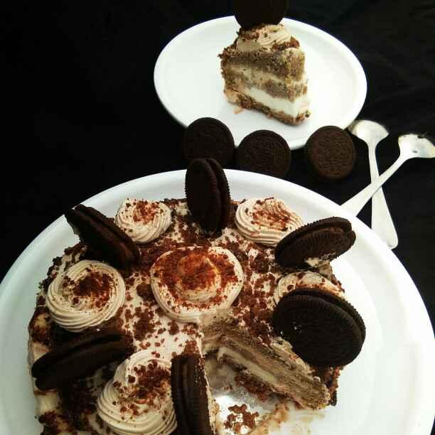 How to make Eggless nutella icecream cake