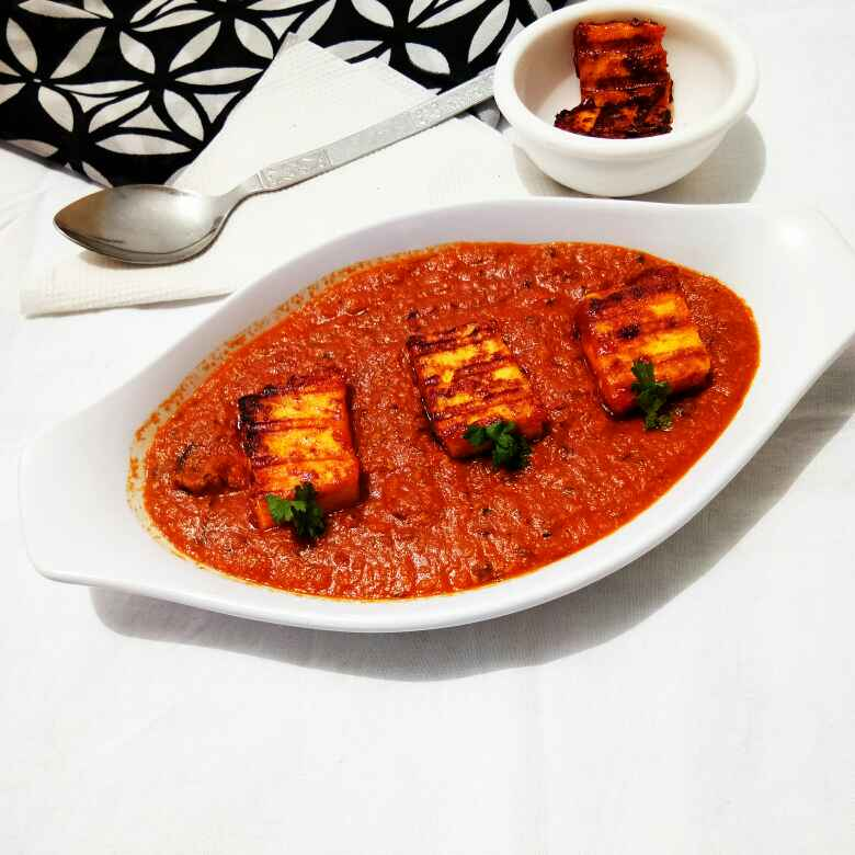 How to make Grilled paneer mughlai curry