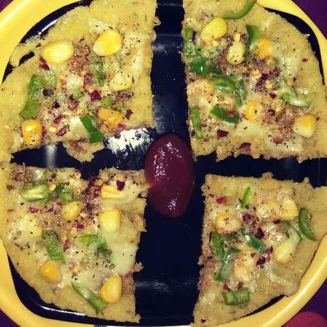 Photo of Sweet Corn Cheese Pizza by Neeru Gupta at BetterButter