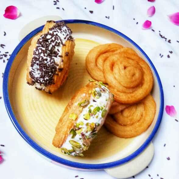 Photo of Paneer Jalebi Ice-cream Sandwich by Neeru Gupta at BetterButter