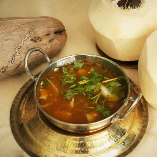 How to make Elaneer Rasam (Tender Coconut Rasam)