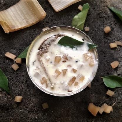 How to make Vazhaithandu Thayir Pachadi   Banana Stem Raita