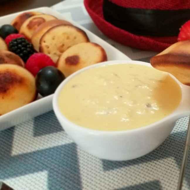 How to make Dutch Poffertjes served with Rabdi