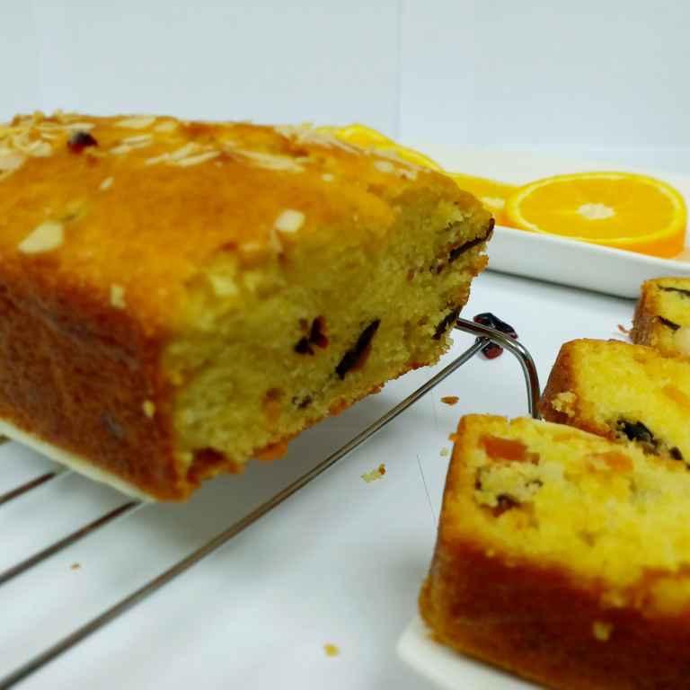 Photo of Eggless Orange and Fruit Cake by Neha Pahilwani at BetterButter