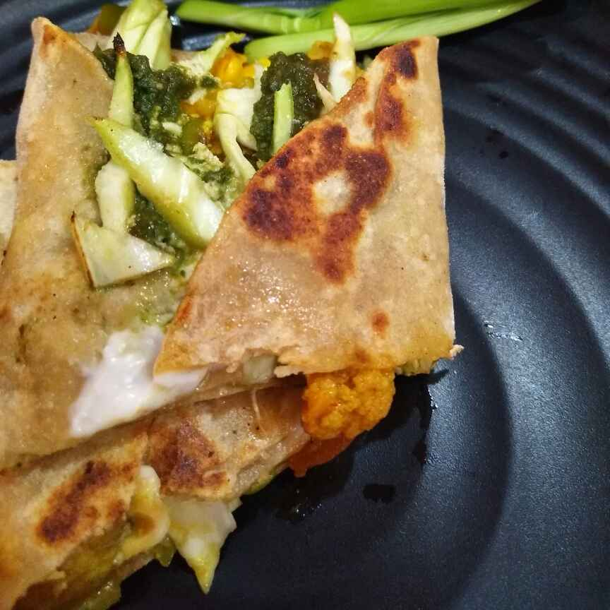 How to make Vegetable chapati wrap