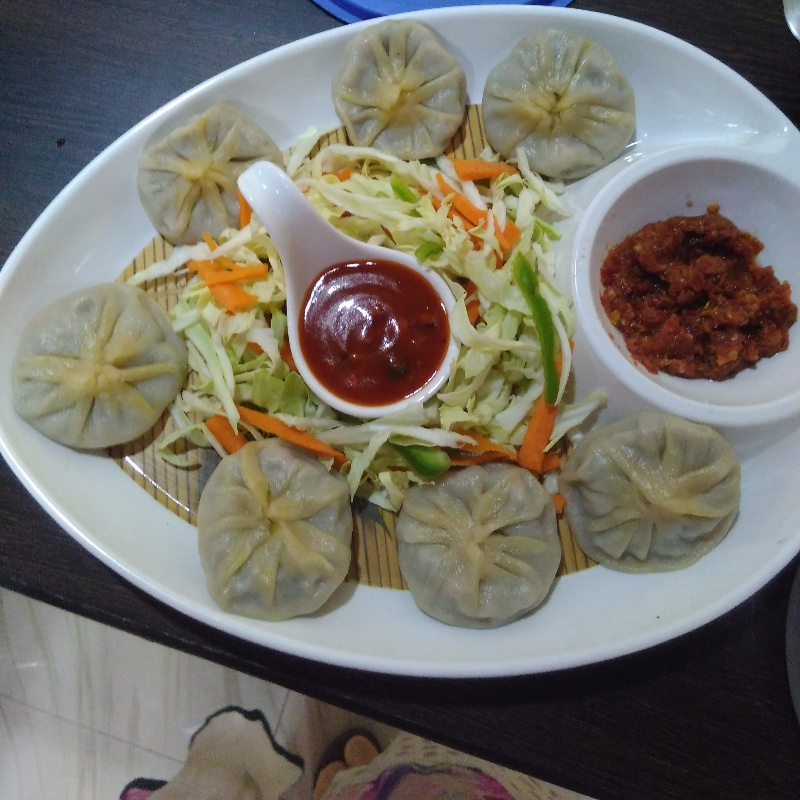 How to make Steamed Veg Momos with Schezwan and Sweet Chilli Garlic Sauce