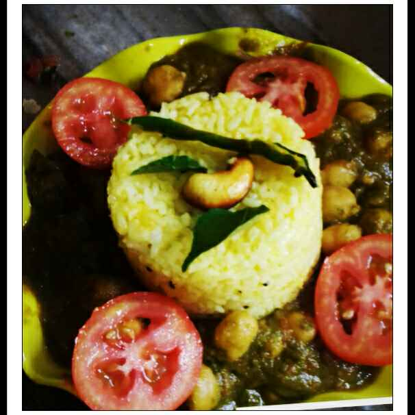 How to make Hariyali Chhole /Chickpeas Spinach Curry