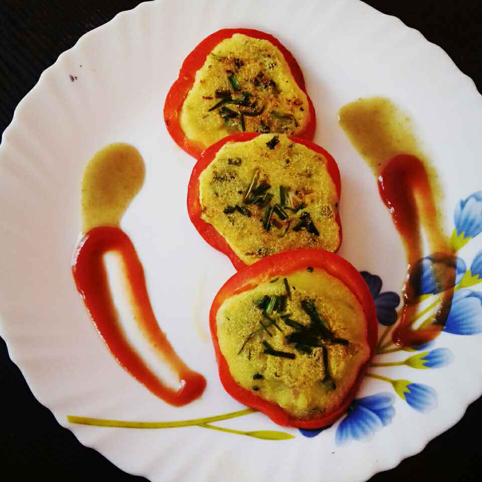 Photo of Capsicum ring instant uttapam.. by Neha Mangalani at BetterButter