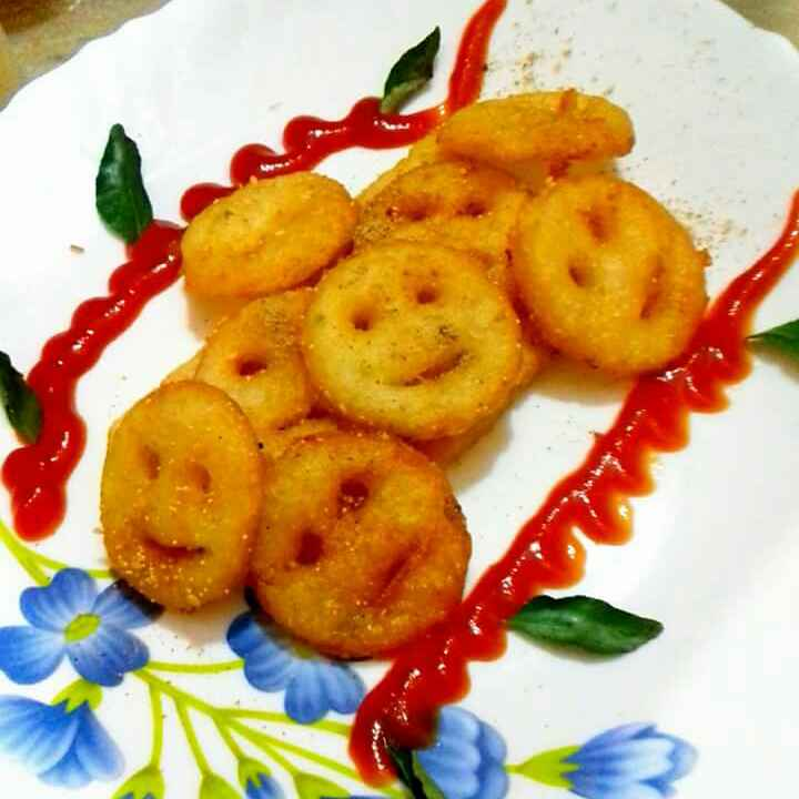 Photo of Leftover chaval se bane smiles. by Neha Mangalani at BetterButter