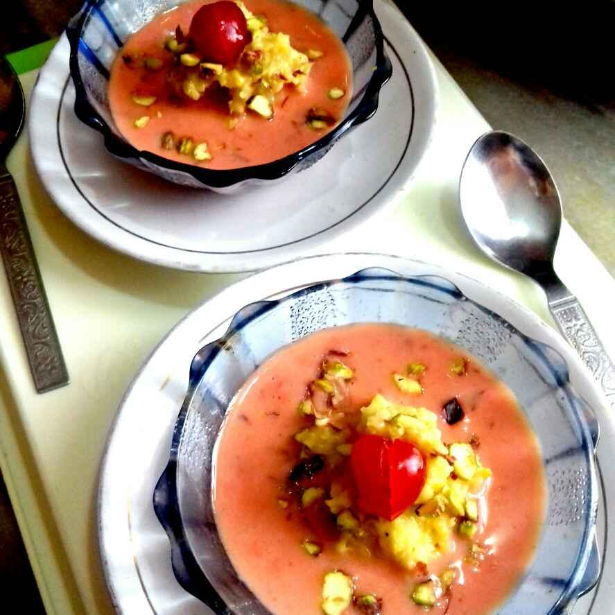 Photo of Corn custard halwa with beetroot rabri by Neha Mangalani at BetterButter