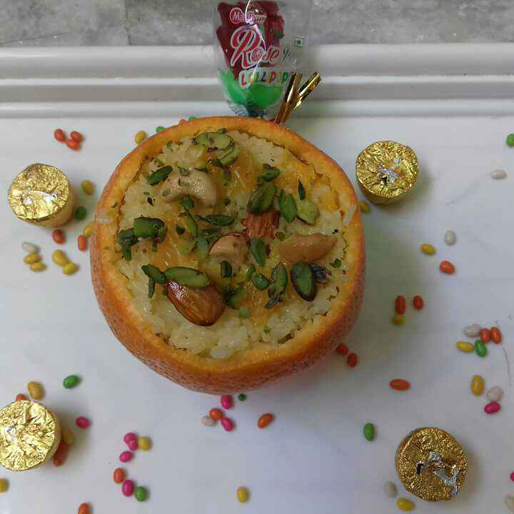 Photo of Orange rice:rice: in an orange cup:tangerine: by Neha Mehra Singh at BetterButter