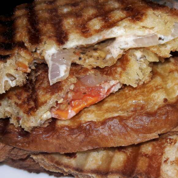 Photo of Grilled Tomato Onion cheese sandwich by Neha Paliwal at BetterButter